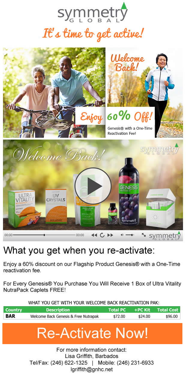 time to get active! Enjoy 60% off Genesis
